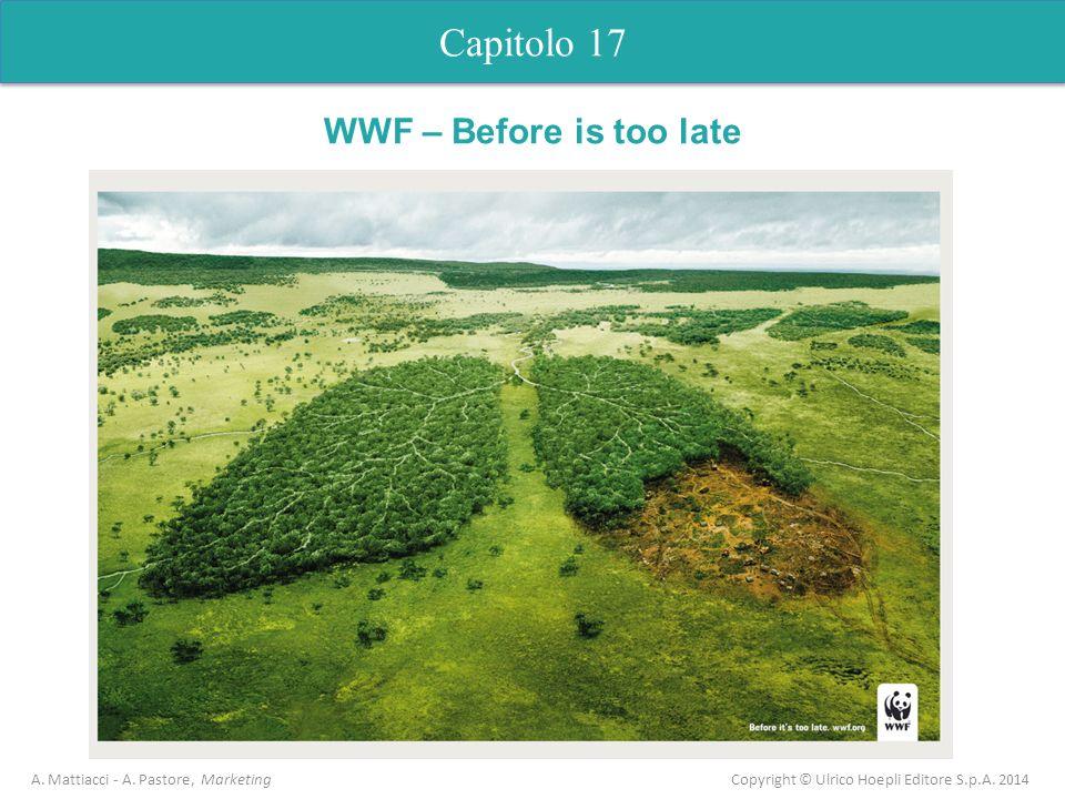 Capitolo 17 A. Mattiacci - A. Pastore, Marketing Copyright © Ulrico Hoepli Editore S.p.A. 2014 Capitolo 5 Analisi dellofferta WWF – Before is too late