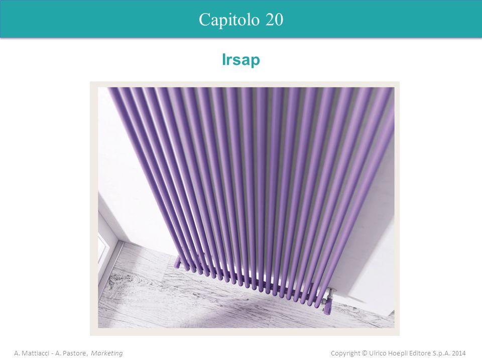 Capitolo 20 A. Mattiacci - A. Pastore, Marketing Copyright © Ulrico Hoepli Editore S.p.A. 2014 Irsap