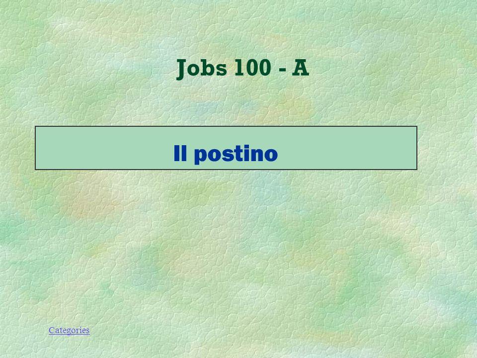 Categories Jobs 100 - Q Chi porta le lettere