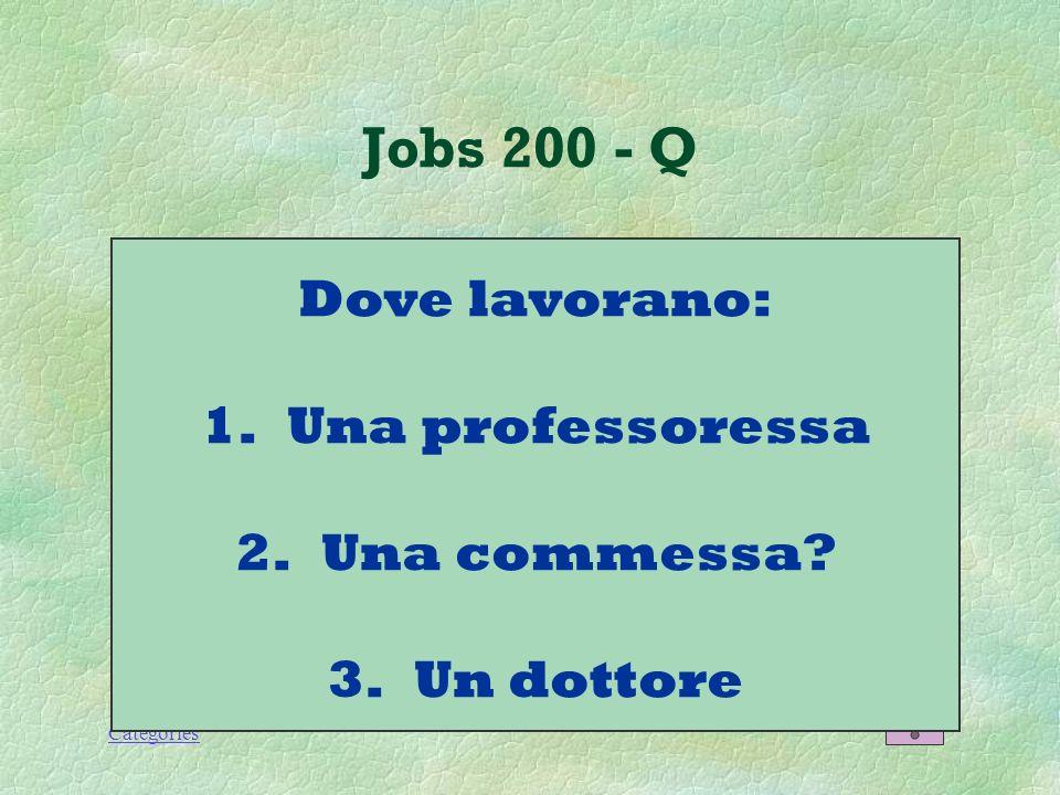 Categories Jobs 100 - A Il postino