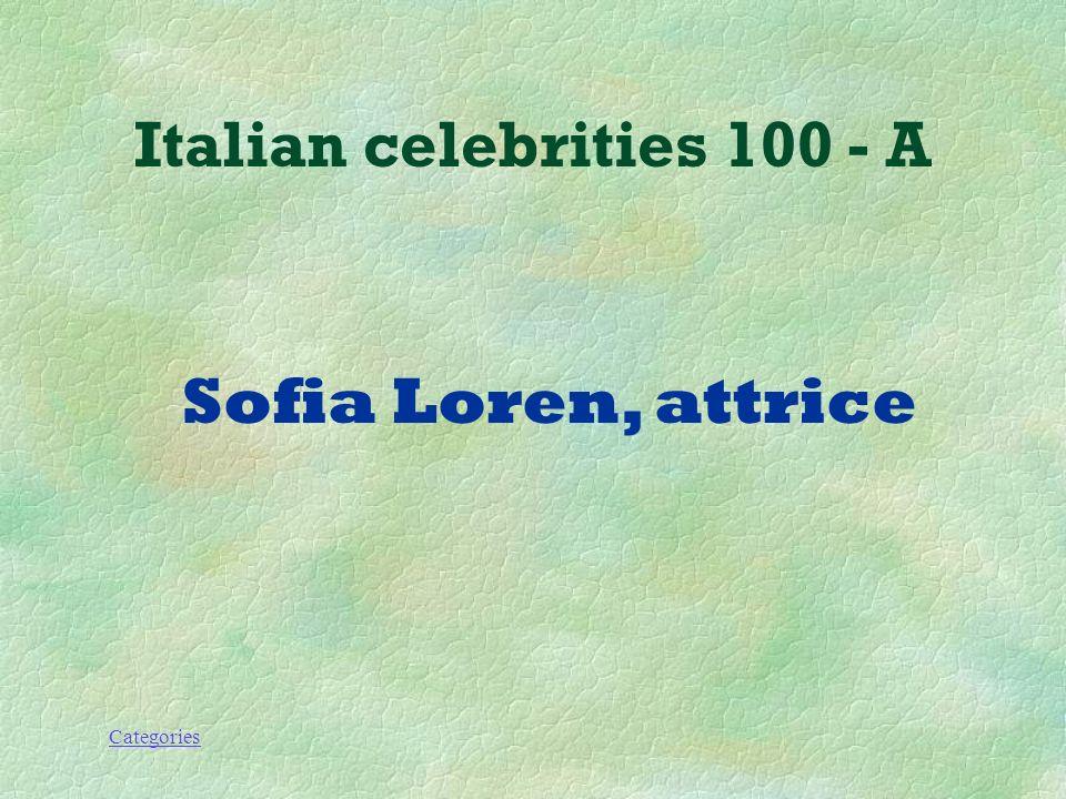 Categories Italian Celebrities 100 - Q Come si chiama questo personaggio e che lavoro fa