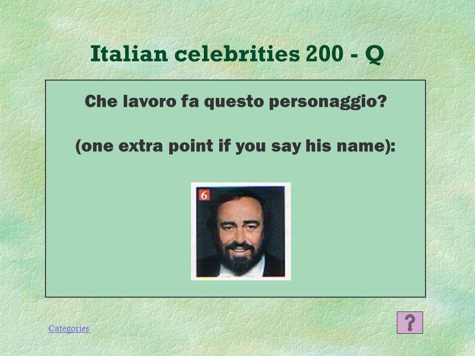 Categories Italian celebrities 100 - A Sofia Loren, attrice