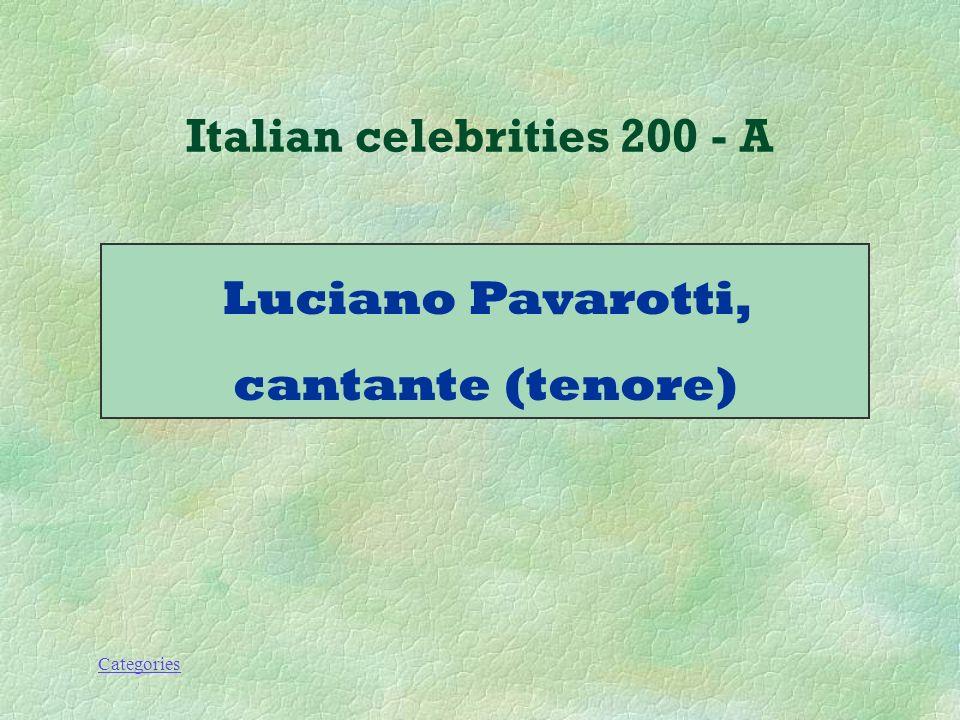 Categories Italian celebrities 200 - Q Che lavoro fa questo personaggio.
