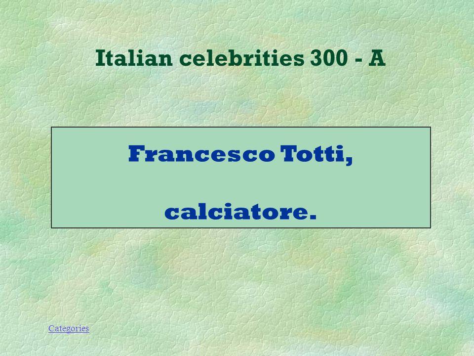 Categories Italian celebrities 300 - Q Che lavoro fa questo personaggio.