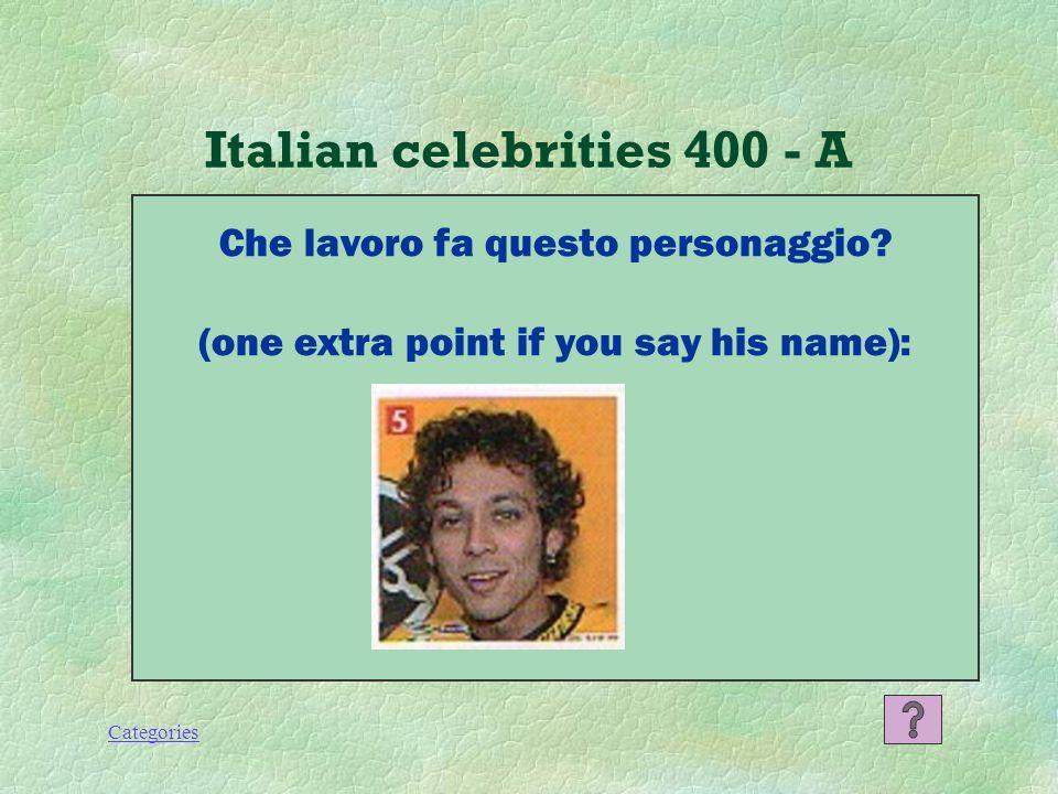 Categories Italian celebrities 300 - A Francesco Totti, calciatore.
