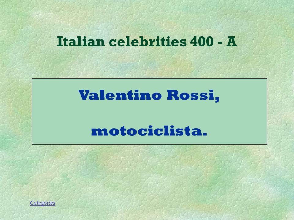 Categories Italian celebrities 400 - A Che lavoro fa questo personaggio.