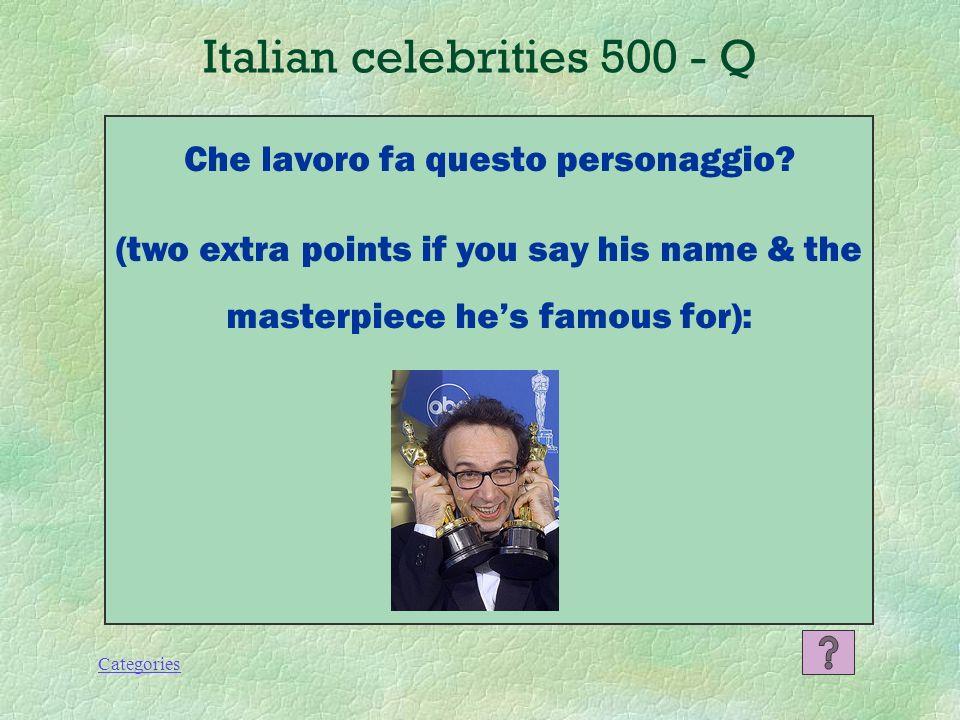 Categories Italian celebrities 400 - A Valentino Rossi, motociclista.