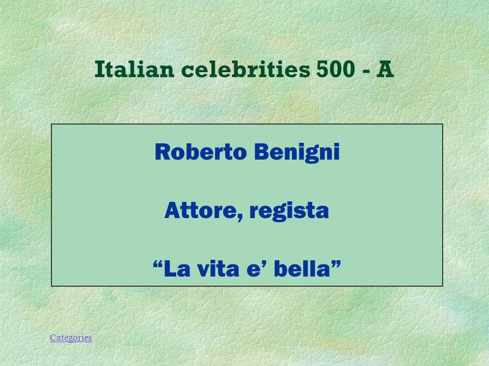 Categories Italian celebrities 500 - Q Che lavoro fa questo personaggio.