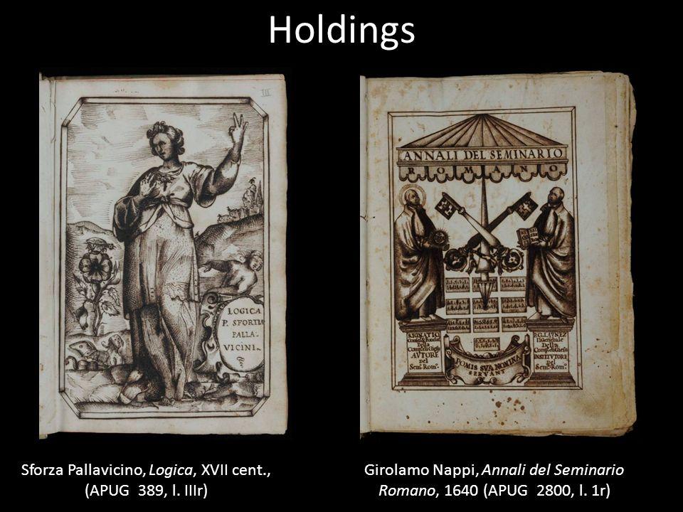 Holdings Sforza Pallavicino, Logica, XVII cent., (APUG 389, l.