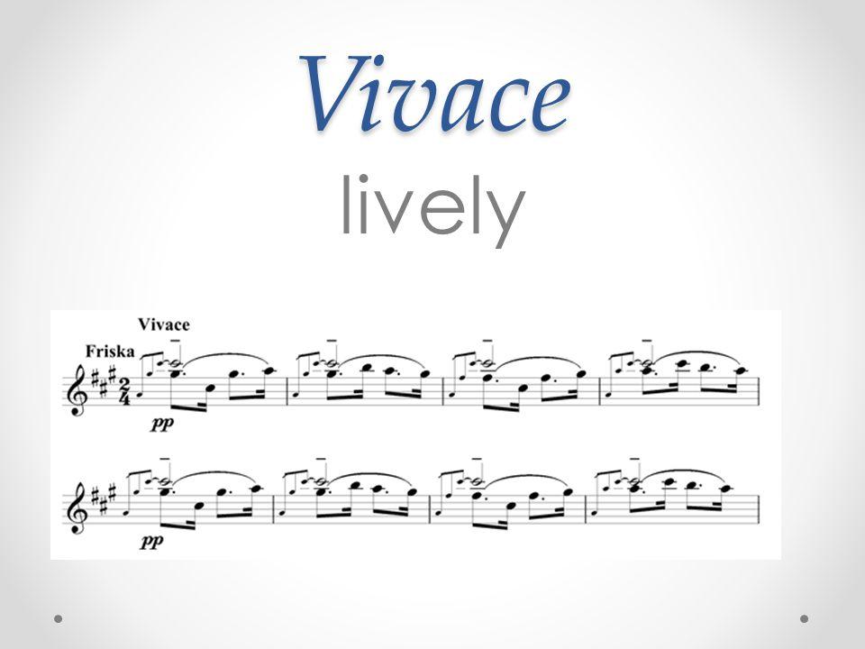 Vivace lively