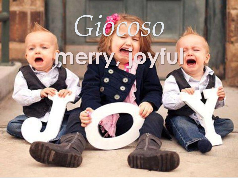 Giocoso merry, joyful