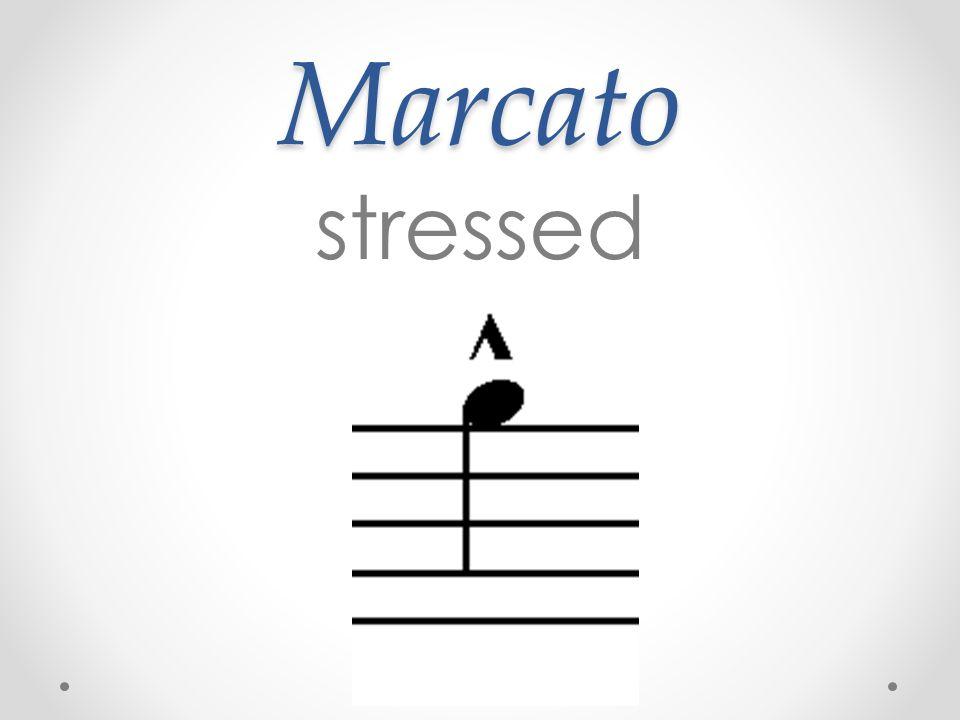 Marcato stressed