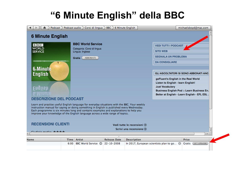 6 Minute English della BBC