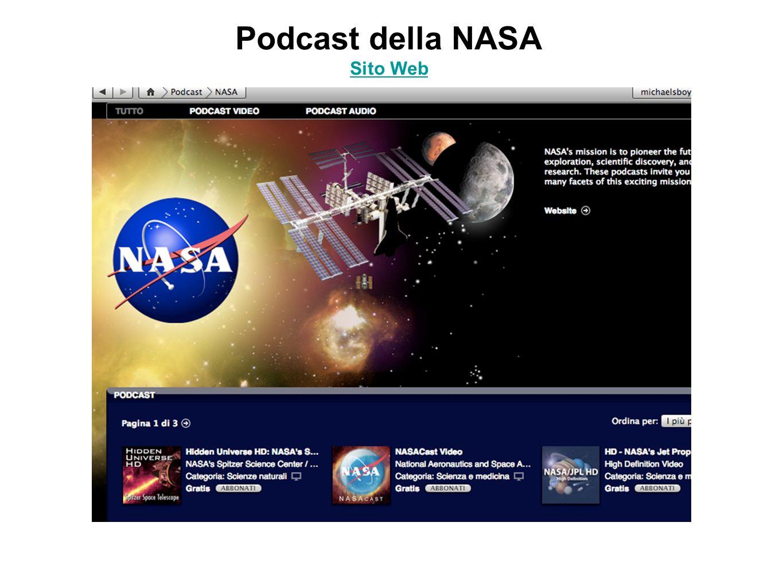 Podcast della NASA Sito Web