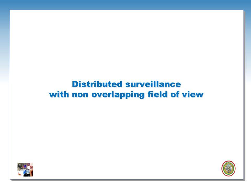 Roberto Vezzani - Imagelab – Università di Modena e Reggio Emilia Distributed surveillance with non overlapping field of view