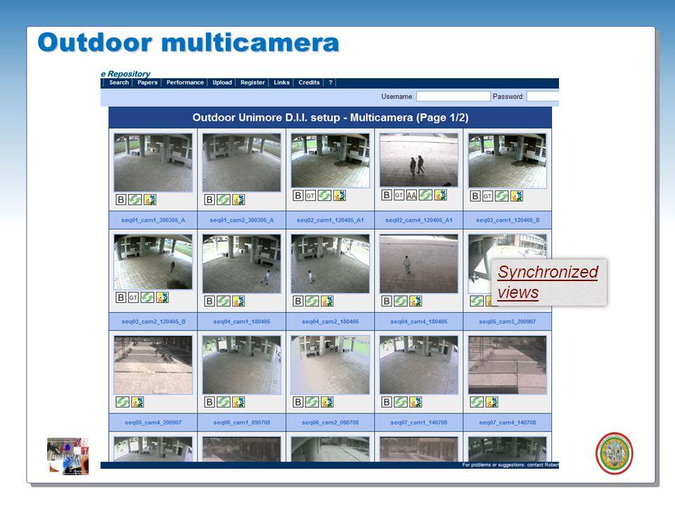 Roberto Vezzani - Imagelab – Università di Modena e Reggio Emilia Outdoor multicamera Synchronized views