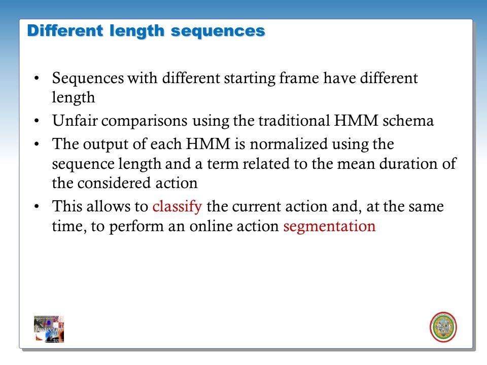Roberto Vezzani - Imagelab – Università di Modena e Reggio Emilia Sequences with different starting frame have different length Unfair comparisons usi