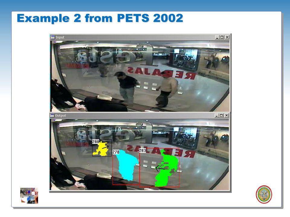 Roberto Vezzani - Imagelab – Università di Modena e Reggio Emilia Example 2 from PETS 2002