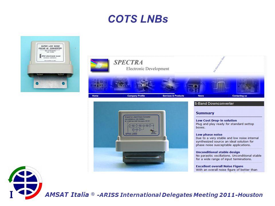 AMSAT Italia ® -ARISS International Delegates Meeting 2011-Houston COTS LNBs