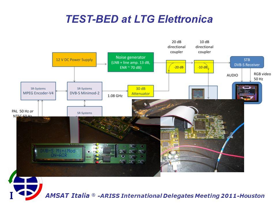 AMSAT Italia ® -ARISS International Delegates Meeting 2011-Houston TEST-BED at LTG Elettronica