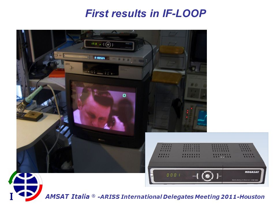 AMSAT Italia ® -ARISS International Delegates Meeting 2011-Houston First results in IF-LOOP