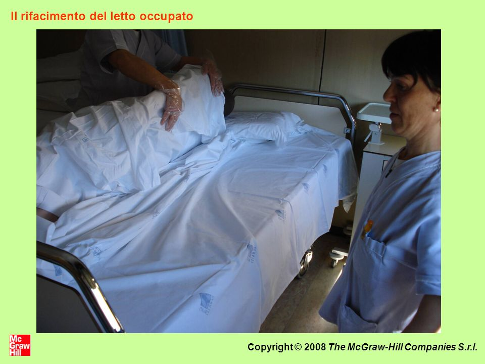 Copyright © 2008 The McGraw-Hill Companies S.r.l. Il rifacimento del letto occupato