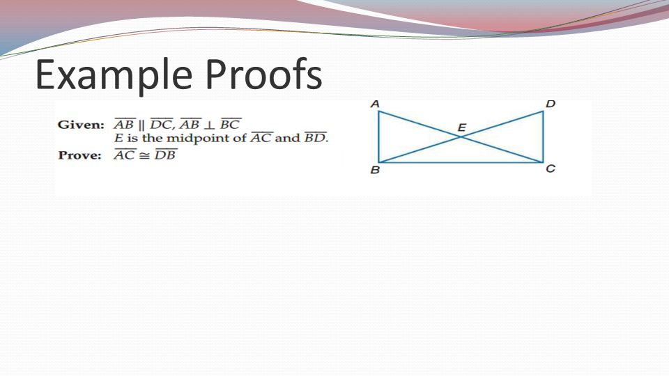 Example Proofs