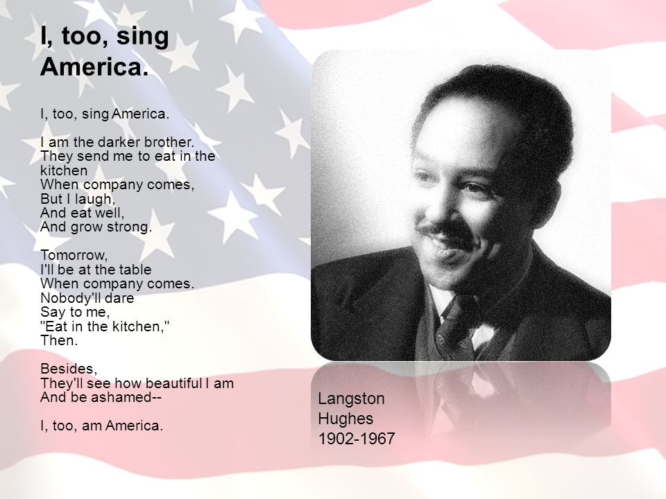 an analysis of the poem i too by langston hughes