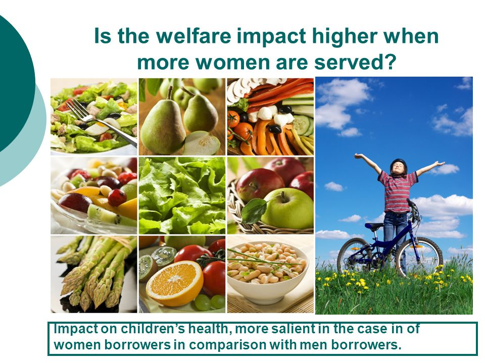 Is the welfare impact higher when more women are served.