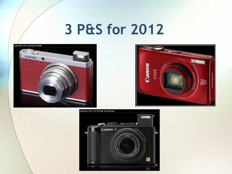3 P&S for 2012