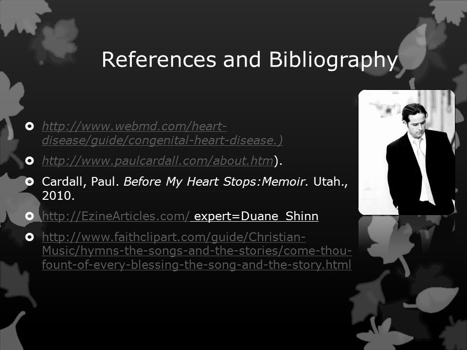 References and Bibliography    disease/guide/congenital-heart-disease.)   disease/guide/congenital-heart-disease.) 