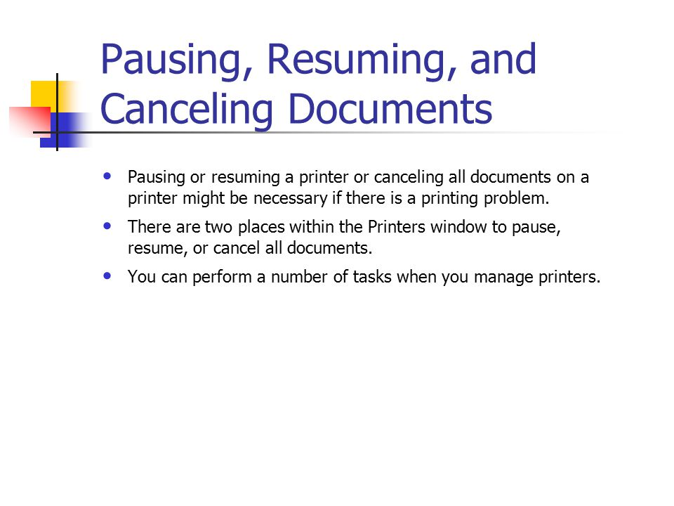 printing terminology requirements for network printing at least