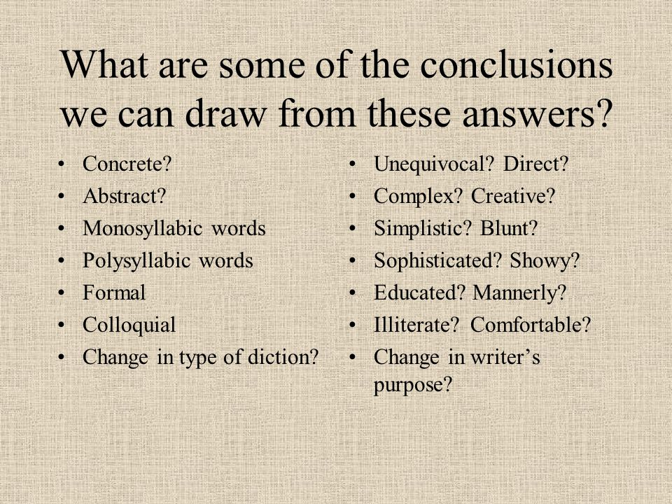 How to describe diction?