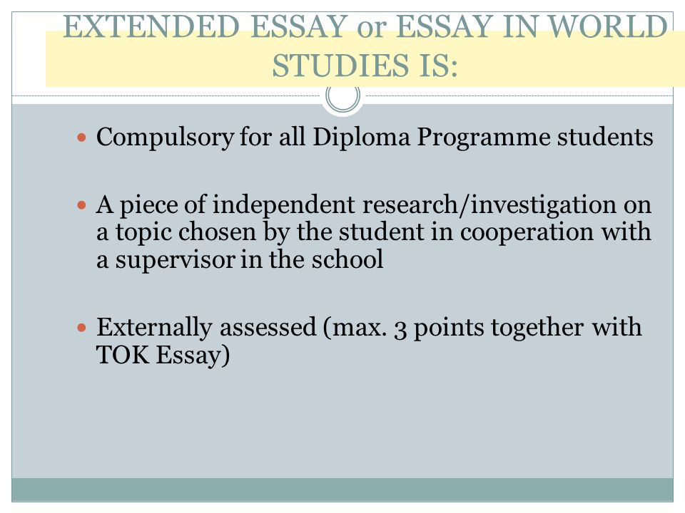 excellent biology extended essays