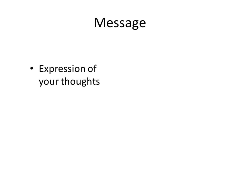 Message Expression of your thoughts