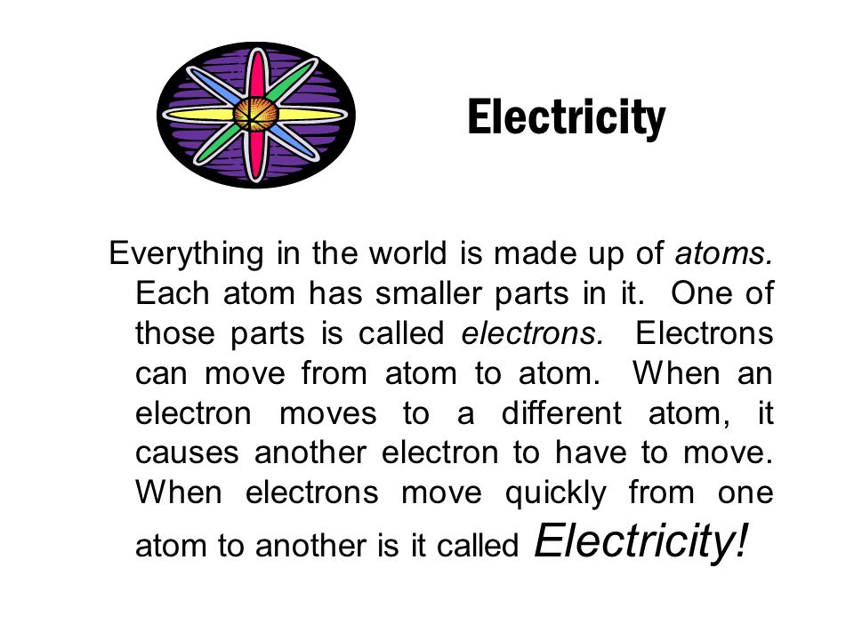 Electricity 3 rd Grade Science