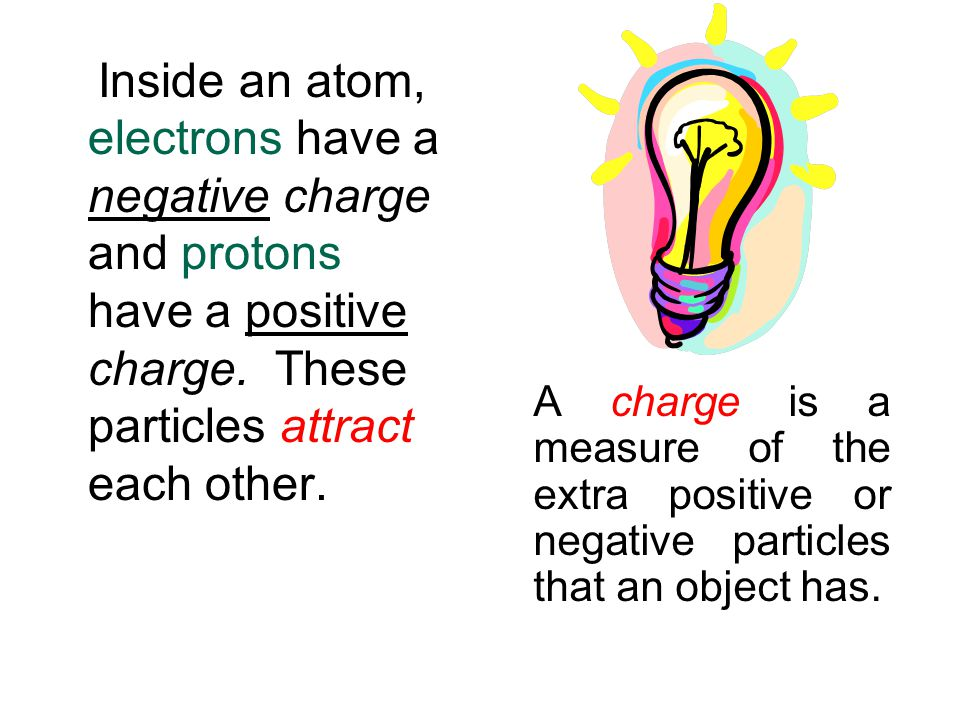 Electricity Everything in the world is made up of atoms.