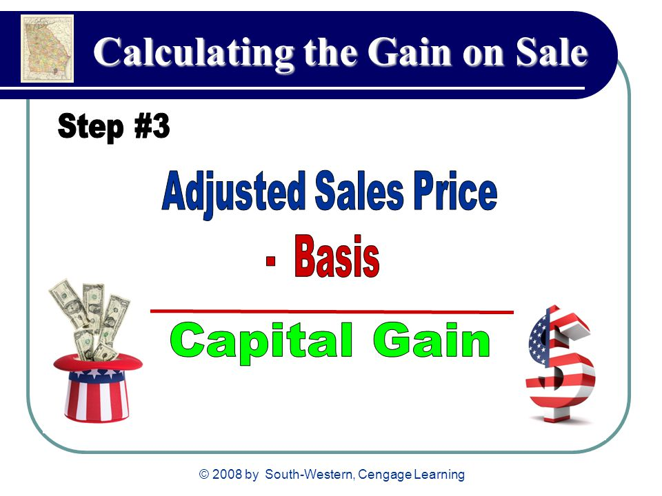 © 2008 by South-Western, Cengage Learning Calculating the Gain on Sale