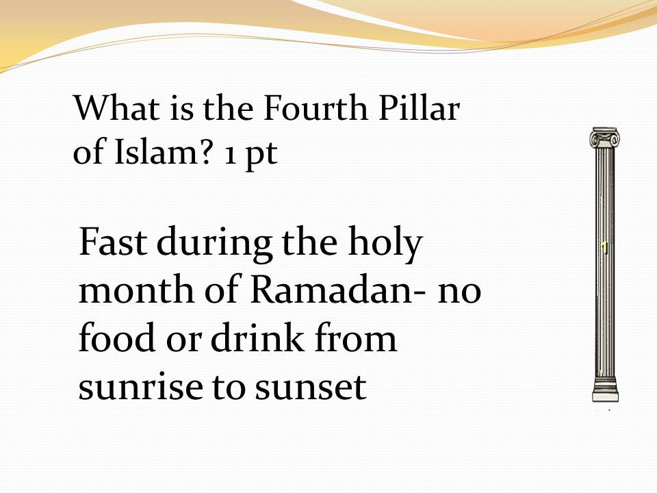 1 1 What is the Fourth Pillar of Islam.