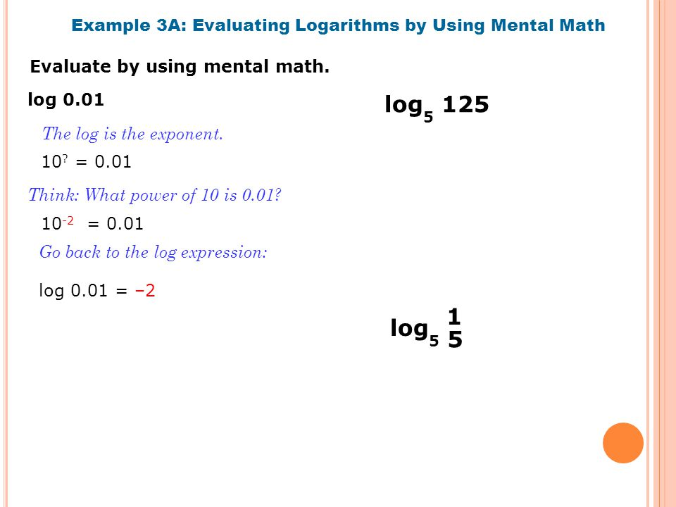 Evaluate by using mental math.
