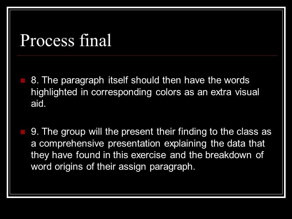 Process final 8.