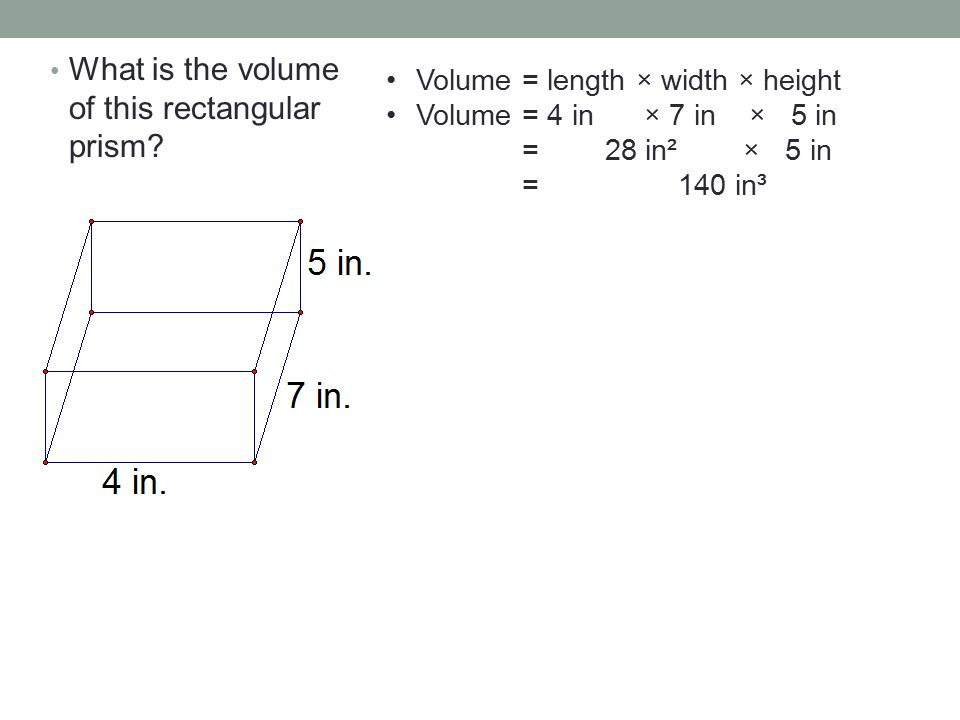 What is the volume of this rectangular prism.