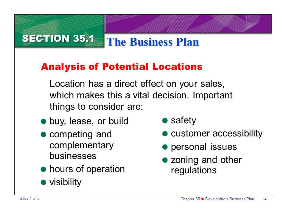 Location business plan