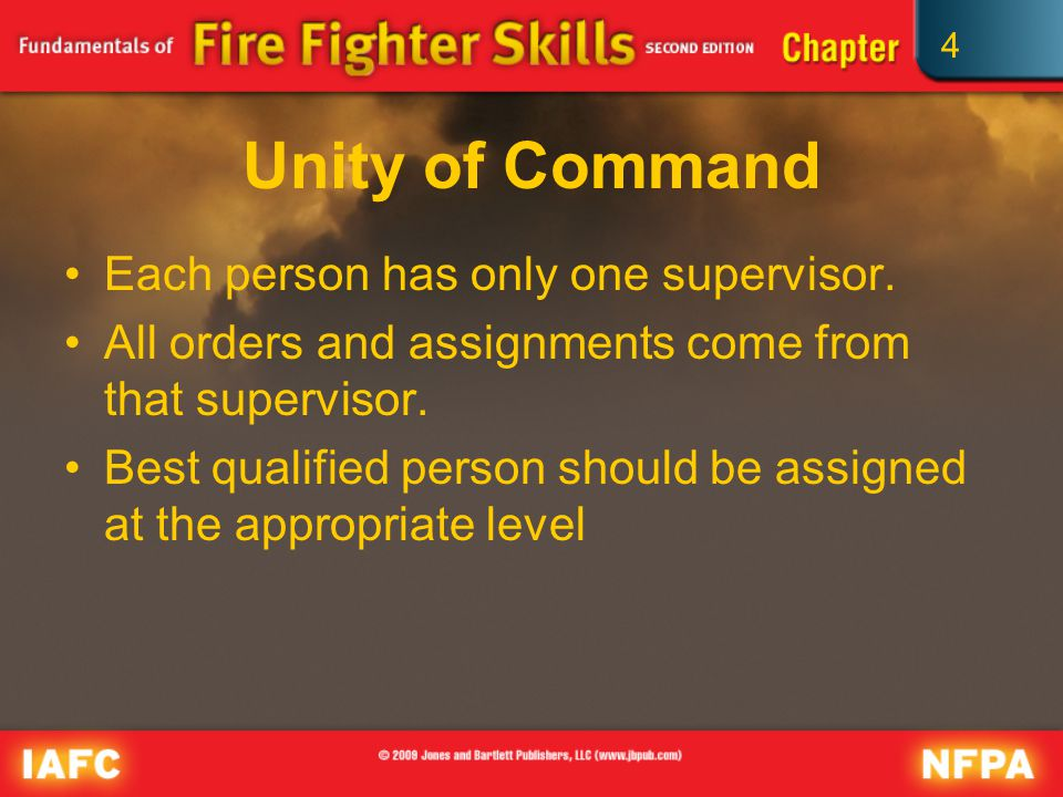 4 Unity of Command Each person has only one supervisor.