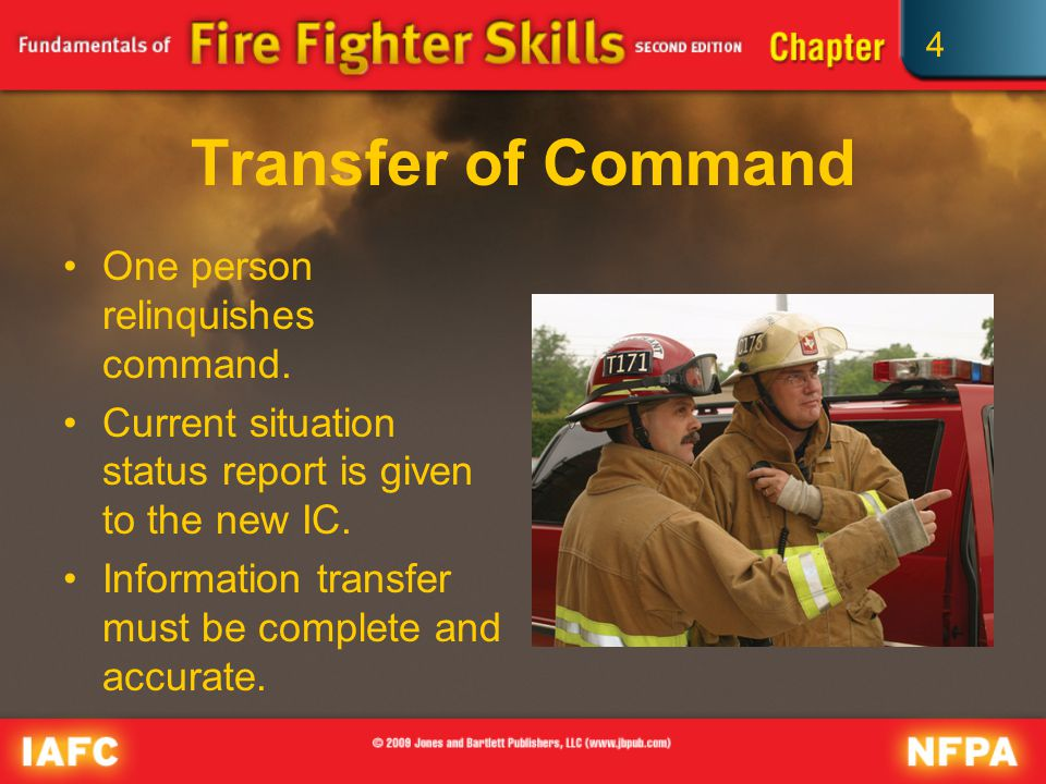 4 Transfer of Command One person relinquishes command.