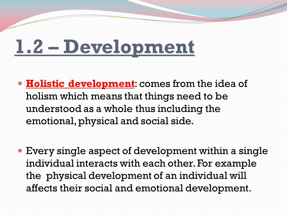 how physical development affects other development