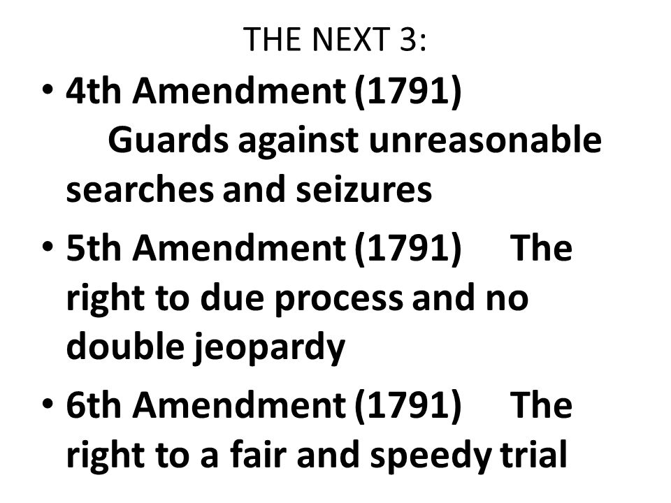 the fourth amendment to the constitution of the united states Bill of rights, first amendment, second amendment, third amendment, fourth amendment the twelfth amendment to the constitution of the united states.
