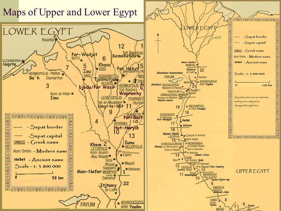 The Union Of Upper And Lower Egypt The Union Of Two Lands Ancient - Map of upper egypt