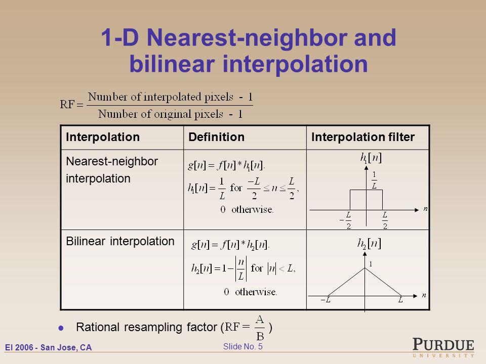 EI San Jose, CA Slide No  1 Nearest-neighbor and Bilinear