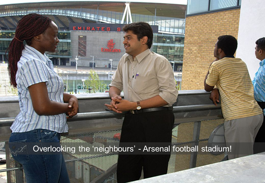 5 Overlooking the 'neighbours' - Arsenal football stadium!
